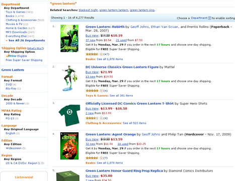 Search on Amazon's Web site