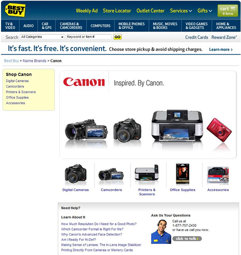 Best Buy search results