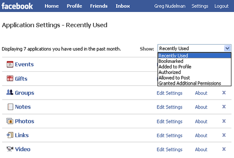 Facebook combines sorting and filtering