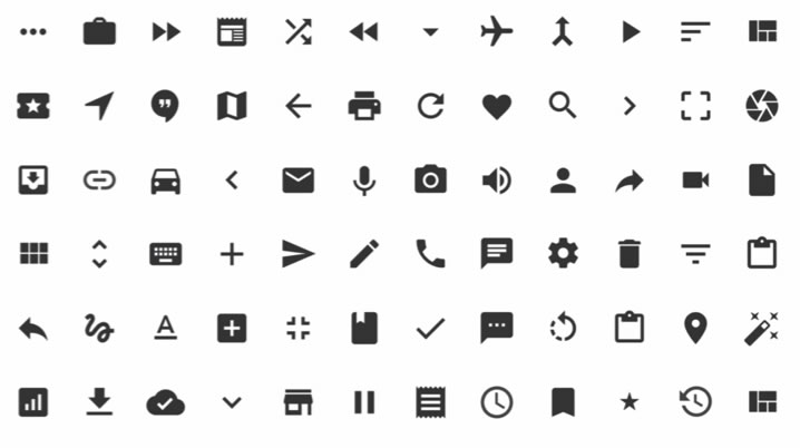 how to use material design icons android
